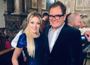 chrissy, christina, johnston, alan carr, carr, sick childrens trust, concert, singer, london